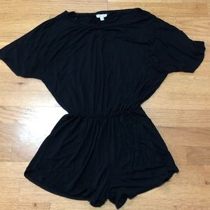 Silence + Noise Black Shorts Romper